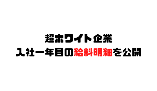 超ホワイト企業新卒1年目の給料明細を公開!高すぎぃ!